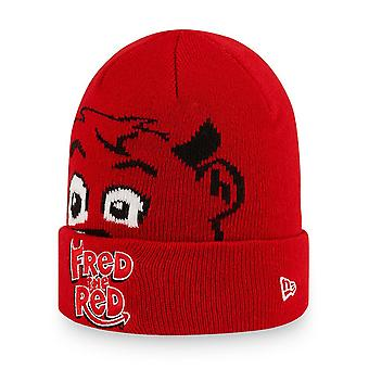 New Era Kinder Wintermütze Infant Baby Beanie - FRED THE RED