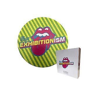 Den rullande stenar pussel exhibitionism Round logo nya officiella 500 Piece
