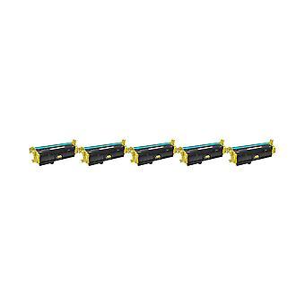 RudyTwos 5 x korvaaja HP 508 X Toner yksikkö keltainen väri LaserJet Enterprise M552dn, M553n, M553dn, M553x, M553dh, yhteensopiva Monitoimilaitteen M577dn, Monitoimilaitteen M577f, virtaus Monitoimilaitteen M577c Flow Monitoimilaitteen M577z