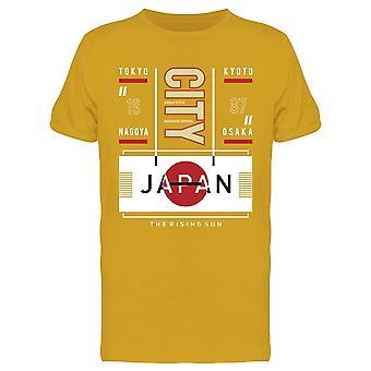 Prefetture del Giappone Tee Men's -Image di Shutterstock
