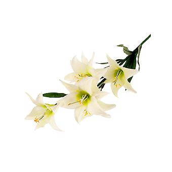 68cm Cream Lily Spray - Artificial Fabric Flowers