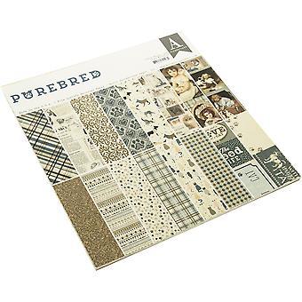 Authentique Čistokrevný 12x12 palcový papír pad