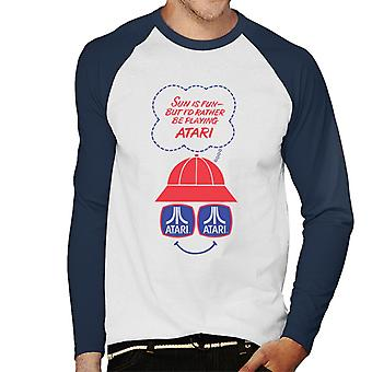 Atari Sun Is Fun Men's Baseball Long Sleeved T-Shirt