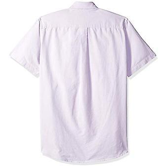 أساسيات الرجال & apos;ق العادية تناسب قصيرة الأكمام جيب قميص أكسفورد, Lavende ...