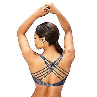 Merke - Core 10 Kvinner's Trykt Strappy Tilbake Yoga Sports BH, Python, ...