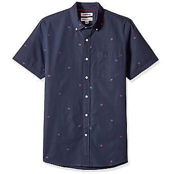 Goodthreads Men's Standard-Fit Kurzarm Dobby Shirt, -navy rose, XX-Große...