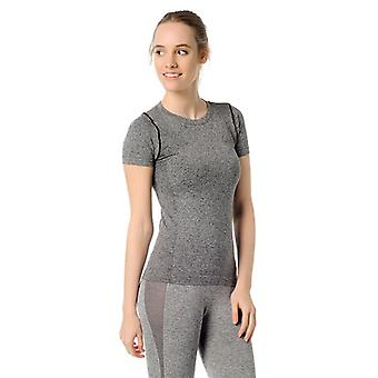 Jerf Womens Rodia Grey Sem Costura Performance Tee Shirt