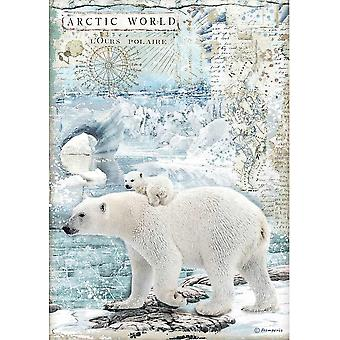 Stamperia Rice Paper A4 Artic World Polar Bears