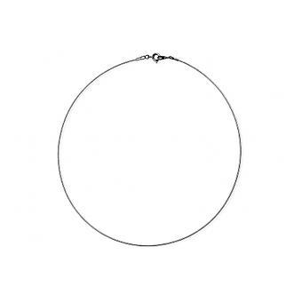 Kabel sølv Rhodié fil 1mm 42cm