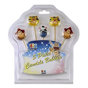 4 Kerzen Schmetterlinge