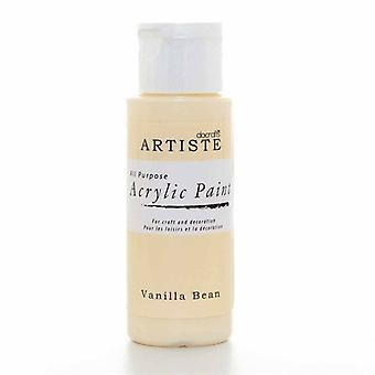 Peinture acrylique Docrafts (2oz) - Gousse de vanille (DOA 763201)