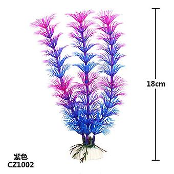 Artificial Underwater Plants Aquarium Fish Tank Decoration Green-purple Water Grass Viewing Decorations