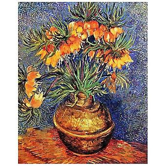 Print on canvas - Fritillarie, Imperial Crown In A Copper Vase - Vincent Van Gogh - Painting on Canvas, Wall Decoration