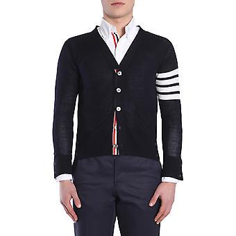 Thom Browne Mkc002a00014415 Men's Blue Wool Cardigan