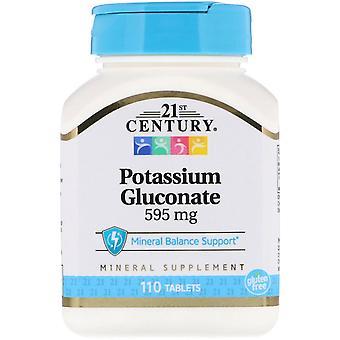 Siglo XXI, Gluconato de potasio, 595 mg, 110 tabletas