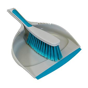 Charles Bentley 'Brights' Kitchen Bundle Set Mop Brush Scrub Squeegee Dish Dustpan Blue