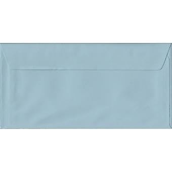 Baby Blue Peel/Seal DL Coloured Blue Envelopes. 100gsm FSC Sustainable Paper. 110mm x 220mm. Wallet Style Envelope.