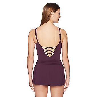 Bleu Rod Beattie Women 's Lace down تنور ملابس السباحة من قطعة واحدة, يا ذلك عقدة A...
