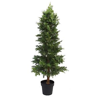 130cm Artificial Cedar Cypress Artificial Topiary Tree UV Protected