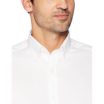 BUTTONED DOWN Männer's maßgeschneiderte Fit Button-Collar solide nicht-Eisen Kleid Shirt (Keine...