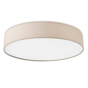 LED Liten Flush Tak Ljus Beige Tyg