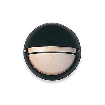1 Licht wandlicht - 100 W zwart, opaalglas IP44, E27