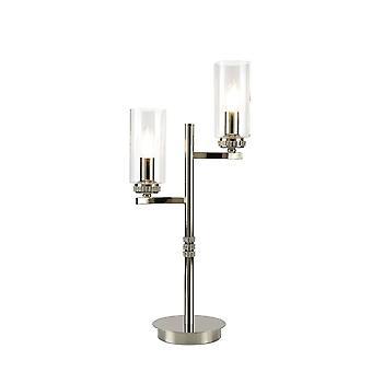 Luminosa Lighting - Table Lamp, 2 x E14, Polished Nickel