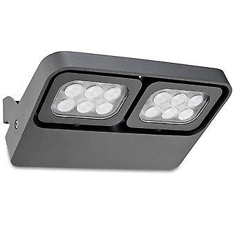 Outdoor LED Wall Light April Urban Grey 1135lm 3000K IP54
