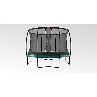 berg elite trampoline 430 14ft green + safety net dlx xl