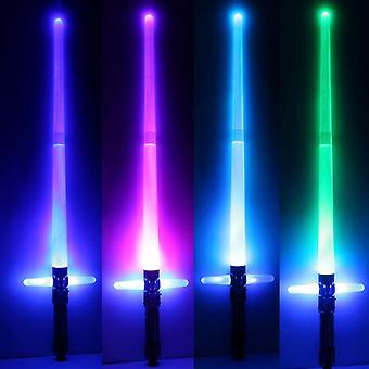 "Cross Telescopic Laser Sword For""s Colorful Toy With Flashing Light Outdoor"