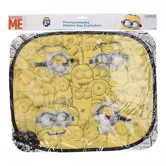 zonneschermen Minions 44 x 36 cm 2 stuks geel
