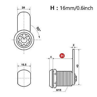 Lade buisvormige nokvergrendeling voor deur met 2 sleutels