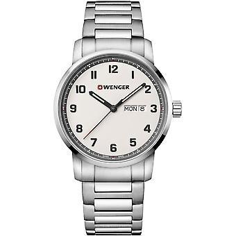 Wenger - Wristwatch - Men - Attitude - 01.1541.120 - cream (beige), 42 mm