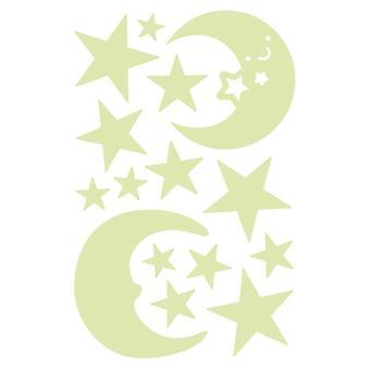 3d בועות כוכבים נקודות -מדבקת קיר זוהרת