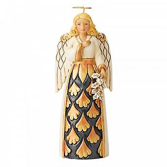 Jim Shore Heartwood Creek Generosity Of Spirit Black & Gold Pint Size Angel Figurine