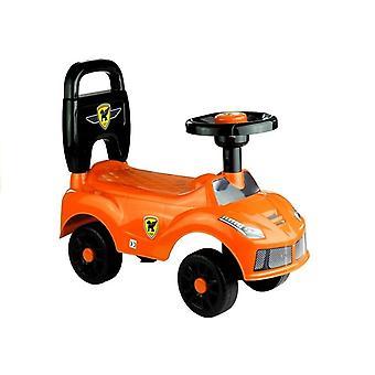 Cărucior portocaliu - mașină pentru copii mici - 42 x 21,5 x 15,5 cm
