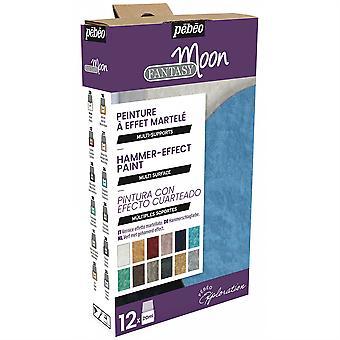 Pebeo Fantasy Moon Reactive Multi-Surface Paint Explorer Set 12 x 20ml