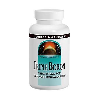 ソースナチュラルズトリプルホウ素, 3 mg, 200 キャップ