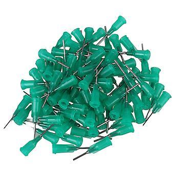 100 Pieces Blunt flexible Dispensing Needle Blunt Tips 18Ga Green