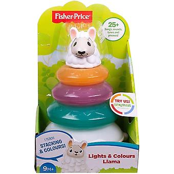 Fisher price linkimals lights and colours llama with music, interactive stacking
