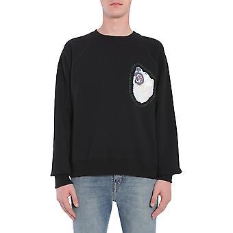 Golden Goose G31mp558a1 Män's Svart Bomull Sweatshirt