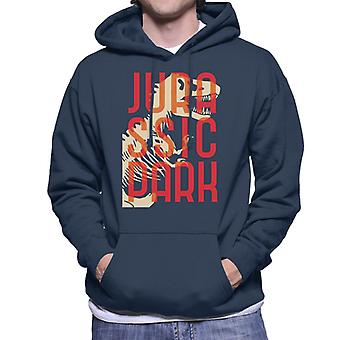 Jurassic Park Oversized Red Text Men's Hooded Sweatshirt