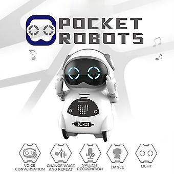Pocket RC Robot Talking Interactive Dialogue Voice Recognition Record Singing Dancing Telling Story Mini RC Robot Toys Gift