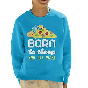 Pflege Bären SchlafenBär geboren, um zu schlafen und essen Pizza Kid's Sweatshirt