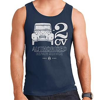 Citro�n 2CV Authorised Repair Service White Logo Men's Vest