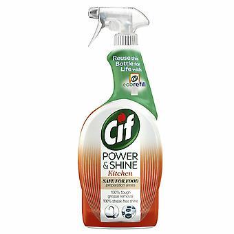 Cif Power & Shine Kitchen Ultra- Degreaser Spray, 700ml