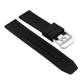 Strapsco rubber watch strap for luminox evo