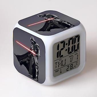צבעוני רב תכליתי LED ילדים & apos;s שעון מעורר -Guerra das Estrelas #38
