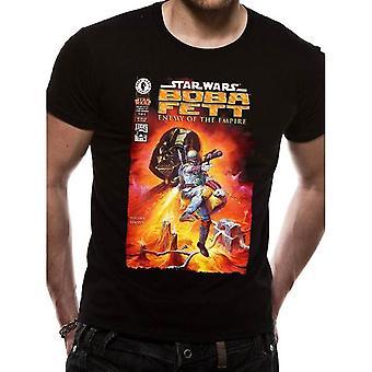 Homens''s Star Wars Boba Fett Inimigo do Império Black T-Shirt