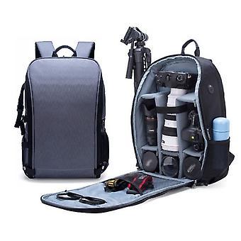 SLR Camera Bag Anti-theft Wodoodporny Duża pojemność Ramię Outdoor Photography Bag Fashion Camera Plecak (Szary)